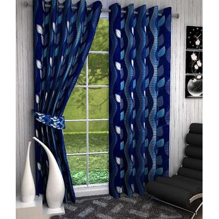 Attractivehomes Beautiful Polyester Window Curtain Set Of 2