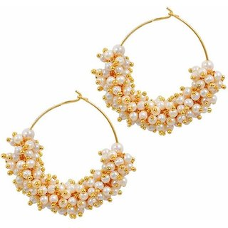 Penny Jewels Alloy Party Wear Fashionable Latest Jhumki Earring Set For Women Girls