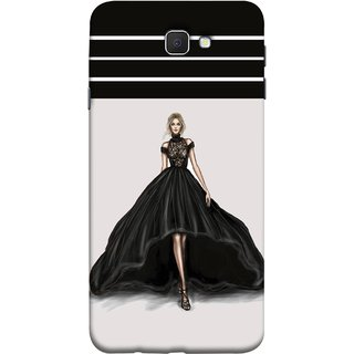 FUSON Designer Back Case Cover for Samsung On5 (2016) New Edition For 2017 :: Samsung Galaxy On 5 (2017) (On Stage High Heel Cat Walk Black Dress )