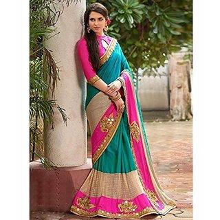 SareeShop Designer SareeS Multicoloured Silk Saree