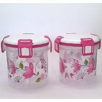 Clip Lock Round Multi Purpose Containers 2 Pcs Special Diwali Offer Gift