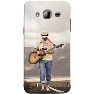 FUSON Designer Back Case Cover for Samsung Galaxy On7 G600Fy :: Samsung Galaxy Wide G600S :: Samsung Galaxy On 7 (2015) (Man Walking Road Mountains Sea Shore )