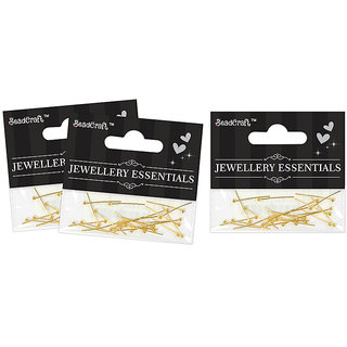 Jewellery Findings Ball Head Pins 20 mm - Gold