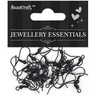 Jewellery Findings Ear Wire Hook - Black