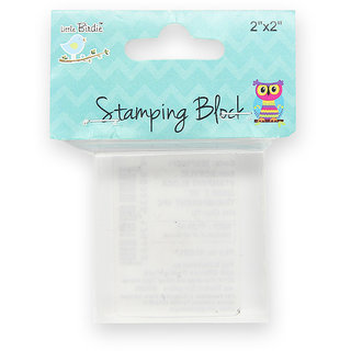 Acrylic Stamping Block 20mm Transparent - 2x2inch