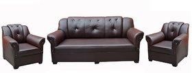 Tezerac -Griffin 3+1+1 Sofa Set - Dark Brown