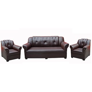 Tezerac -Griffin 3+1+1 Sofa Set - Dark Brown