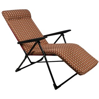 Grand Recliner Chair - Easy Push Back and Foldable - Standard - Brown