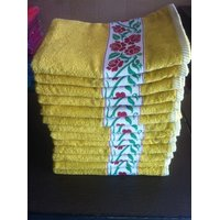 Trident Yellow Floral Towel set of 06 Pieces