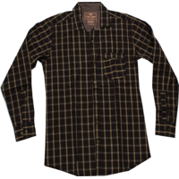 Online KK Ultimate Look Checked Men's Wear Liner Shirts ( Brown )