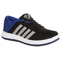 Baton Men's Black/Blue Sports Shoes