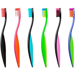 Jordan Ultimate You Toothbrush Soft Bristles Latest Design BPA Free Imported Brush gentle to Teeth Gems. Made in Malaysia( Random Color ) ( Pack of 1)