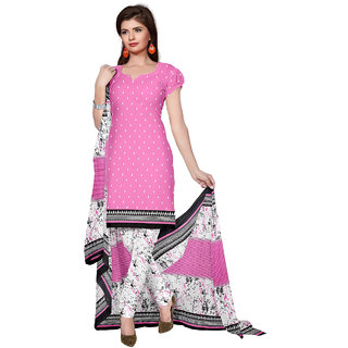DnVeens Women Snythetic Unstiched Churidar Causal Suit Salwar Kameez Dress Material With Dupatta SANAM10005