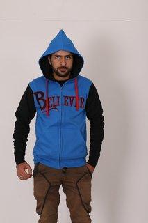 Modest Attires Men's Blue 100% Cotton Sweatshirt Pack of 4