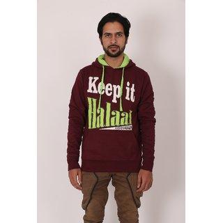 Modest Attires Men's Maroon 100% Cotton Sweatshirt Pack of 4
