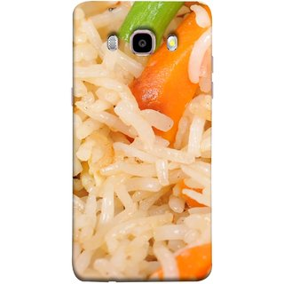 FUSON Designer Back Case Cover for Samsung Galaxy On8 Sm-J710Fn/Df (Veg Rice Hot With Raita White Top Recipes Food)