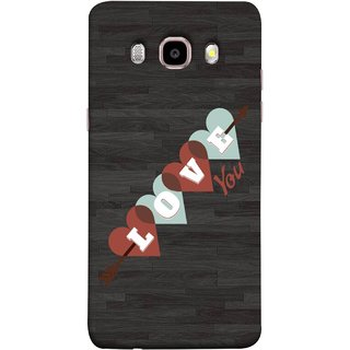 FUSON Designer Back Case Cover for Samsung Galaxy On8 Sm-J710Fn/Df (Grey Plywood Sunmica Best Perfect Wow Pyar Prem)