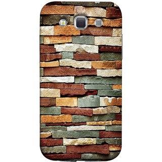 FUSON Designer Back Case Cover for Samsung Galaxy Win I8550 :: Samsung Galaxy Grand Quattro :: Samsung Galaxy Win Duos I8552 (Wall Of Multiple Colored Stone Used As A Background)