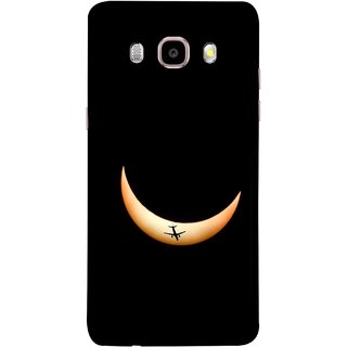 FUSON Designer Back Case Cover for Samsung Galaxy On8 Sm-J710Fn/Df (Black Background Yellow Moon Beam Lovely Picture)