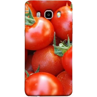 FUSON Designer Back Case Cover for Samsung Galaxy On8 Sm-J710Fn/Df (Ripe Red Cherry Tomatoes Background Shiny Beautiful)