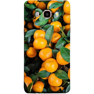FUSON Designer Back Case Cover for Samsung Galaxy On8 Sm-J710Fn/Df (Orange Tree Farm Park Beautiful Green Leaves)