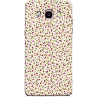 FUSON Designer Back Case Cover for Samsung Galaxy On8 Sm-J710Fn/Df (Pink Lecien Fabric Pink Blue Flower Green Leaf Tiny )