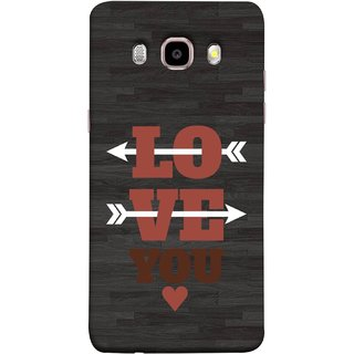 FUSON Designer Back Case Cover for Samsung Galaxy On8 Sm-J710Fn/Df (Hearts Alone Arrow White Follow Worlds School )