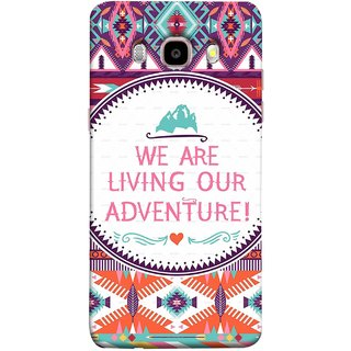 FUSON Designer Back Case Cover for Samsung Galaxy On8 Sm-J710Fn/Df (Colourful Wallpaper Best Quotes Bright Wall Design)