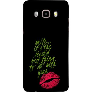 FUSON Designer Back Case Cover for Samsung Galaxy On8 Sm-J710Fn/Df (To Do With Your Lips Kisses Kiss Lovers Couples)