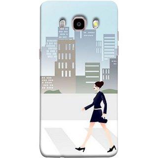 326c62614 FUSON Designer Back Case Cover for Samsung Galaxy On8 Sm-J710Fn Df (Morden  Girl Building Blue Outfit Purse Zebra Cross)