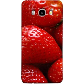 FUSON Designer Back Case Cover for Samsung Galaxy On8 Sm-J710Fn/Df (Best Fresh Strawberry Ice Cream Homemade Recipes)
