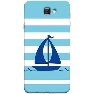 FUSON Designer Back Case Cover for Samsung Galaxy On Nxt (2016) (Waves Horizontal Strips Color Yacht Navy Ocean Sea )