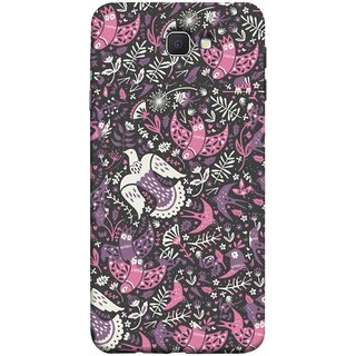 FUSON Designer Back Case Cover for Samsung Galaxy On Nxt (2016) (Pink White Beige Colour Leaves Flowers Walldesign Gift )