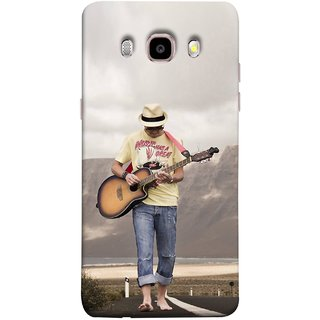 FUSON Designer Back Case Cover for Samsung Galaxy On8 Sm-J710Fn/Df (Man Walking Road Mountains Sea Shore )