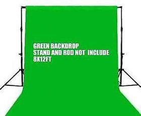 8 x12 FT GREEN LEKERA BACKDROP PHOTO LIGHT STUDIO PHOTOGRAPHY BACKGROUND
