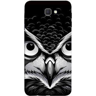 FUSON Designer Back Case Cover for Samsung Galaxy On Nxt (2016) (Grey Owl Night Vision Big Beak Killing Look)