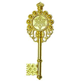 Astroguruji Vastu Fengshui Kuber Kunji Key golden 4.25 inches for money  prosperity (40)