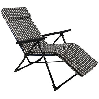 Grand Folding Easy Chair - Suitable for Relaxation - Standard - Black
