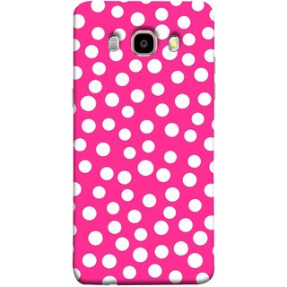 FUSON Designer Back Case Cover for Samsung Galaxy On8 Sm-J710Fn/Df (Small Bubbles Marbles Circle Pink Board)