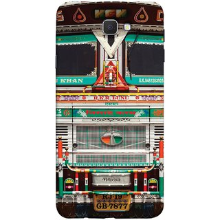 FUSON Designer Back Case Cover for Samsung Galaxy On Nxt (2016) (India Goods Lorry Decorated Indian Tata Truck)
