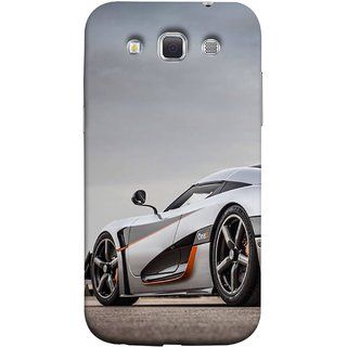 FUSON Designer Back Case Cover for Samsung Galaxy Win I8550 :: Samsung Galaxy Grand Quattro :: Samsung Galaxy Win Duos I8552 (Sky White Red Clouds Front Lights Tyres Side Mirror)