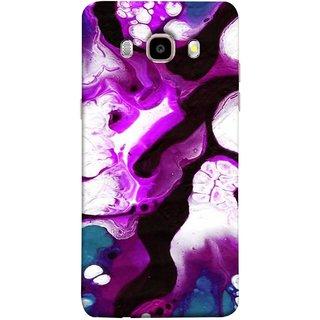 FUSON Designer Back Case Cover for Samsung Galaxy On8 Sm-J710Fn/Df (Purple Painting Wallpaper White Iceberg River Flow)