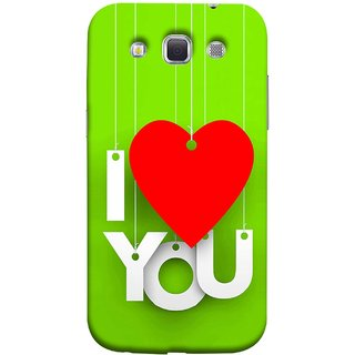 FUSON Designer Back Case Cover for Samsung Galaxy Win I8550 :: Samsung Galaxy Grand Quattro :: Samsung Galaxy Win Duos I8552 (Just Green Say Always I Love You Red Hearts Couples)