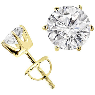 3.02CT SOLITAIRE DIAMOND BEAUTIFUL WEDDING/ANNIVERSARY STUDS EARRINGS