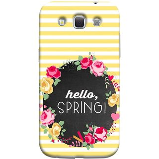 FUSON Designer Back Case Cover for Samsung Galaxy Win I8550 :: Samsung Galaxy Grand Quattro :: Samsung Galaxy Win Duos I8552 (Flowers Cake White And Yellow Horizontal Strips )