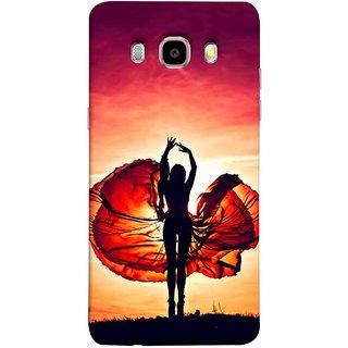 FUSON Designer Back Case Cover for Samsung Galaxy On8 Sm-J710Fn/Df (Beautiful Female Dancer Silhouette In The Sun )