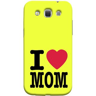 FUSON Designer Back Case Cover for Samsung Galaxy Win I8550 :: Samsung Galaxy Grand Quattro :: Samsung Galaxy Win Duos I8552 (Yellow Background Mother Hearts Pure And True Love)