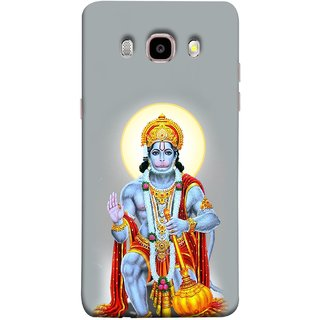 FUSON Designer Back Case Cover for Samsung Galaxy On8 Sm-J710Fn/Df (Hanuman Gadadhari Bajrangi Vayuputra Lord Chalisa)