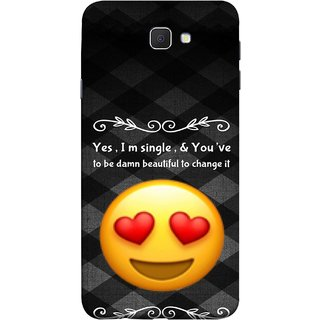 FUSON Designer Back Case Cover for Samsung Galaxy On Nxt (2016) (Damn Beautiful To Change It Hearts Love Pure Smiley)