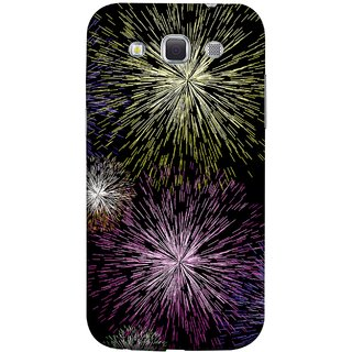 FUSON Designer Back Case Cover for Samsung Galaxy Win I8550 :: Samsung Galaxy Grand Quattro :: Samsung Galaxy Win Duos I8552 (Dark Night Fireworks Diwali Dipawali Flowers )